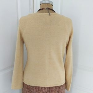 Talbots Sweaters - Talbots Straw Yellow Cardigan Size Medium